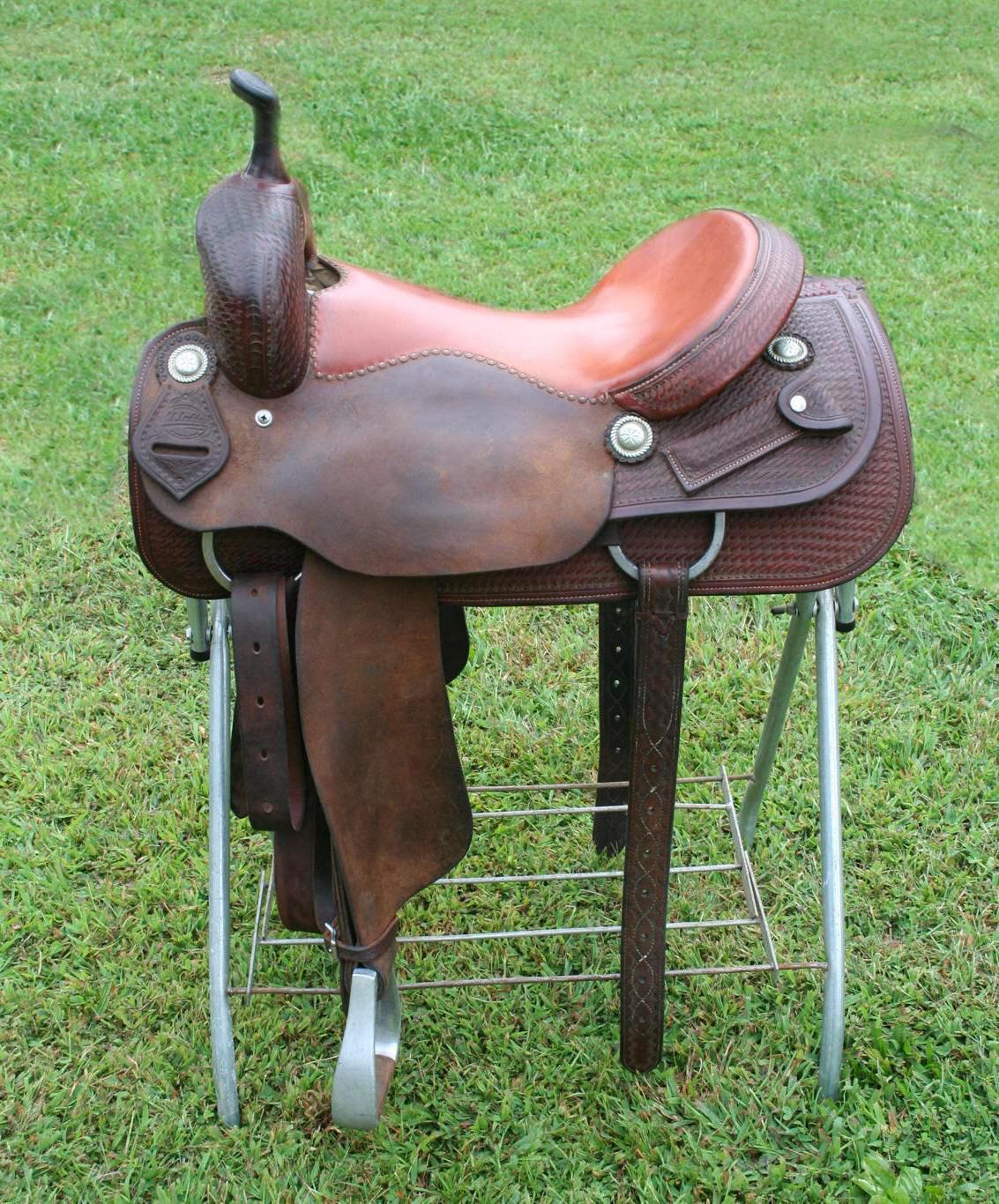 M L  Leddy Cutter Saddle For Sale